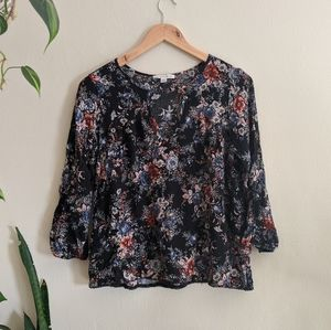 American Eagle Outfitters   Peep Front Floral Top